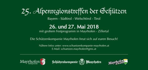 Kompanie Mayrhofen / Alpenregionstreffen 2018 / Zum Vergrößern auf das Bild klicken