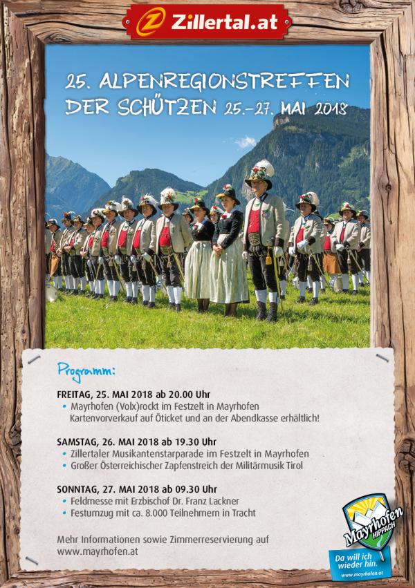SK Mayrhofen / Programm Alpenregionstreffen / Zum Vergrößern auf das Bild klicken