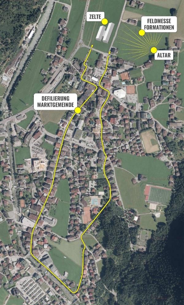 SK Mayrhofen / Umzugsroute Mayrhofen / Zum Vergrößern auf das Bild klicken