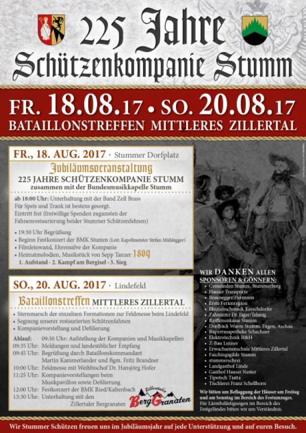 Kompanie Stumm / Bataillonstreffen Mittleres Zillertal 2017 / Zum Vergrößern auf das Bild klicken